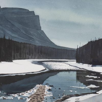 Alan Caswell Collier  |  BOW RIVER & CASTLE MT.  |  Hammer Price - $ 2,750