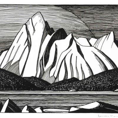 Lawren Stewart Harris  |  MOUNT SAMSON, JASPER PARK; 1925  |  Hammer Price - $ 2,750