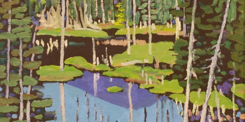 Illingworth Kerr  |  MOUNTAIN MUSKEG NO. 3; 1985  |  Hammer Price - $ 3,500