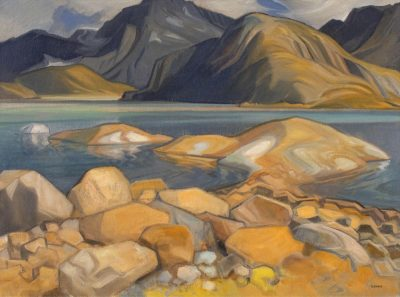 Henry George Glyde | LAST OF THE SNOW (NR. CANMORE-SPRAY LAKES); 1980 | Hammer Price - $ 20,000