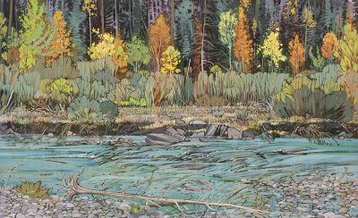 Ted Godwin | FALL ON BAKER'S CREEK, KANANASKIS; 1987 | Hammer Price - $ 30,000 – A NEW RECORD PRICE FOR THE ARTIST
