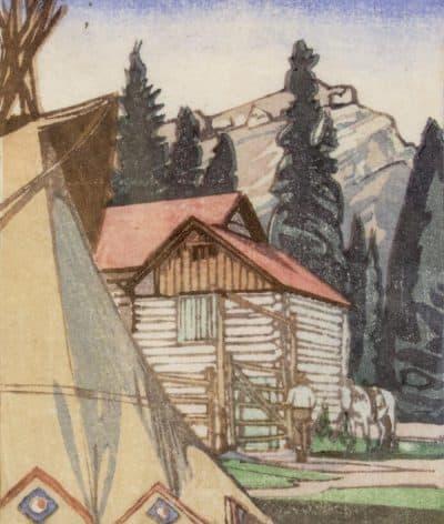 Walter Joseph Phillips | CORRAL AT BANFF; 1941 | Hammer Price - $ 4,750