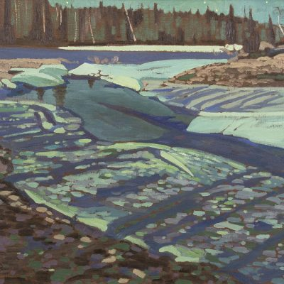 Illingworth Kerr | CHANNEL ICE, ELBOW RIVER FOREST RESERVE; 1983 | Hammer Price - $ 19,000