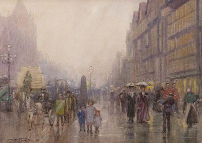 Frederic Marlett Bell-Smith | HOLBORN STAPLE INN, ON RIGHT (LONDON); 1920 | Hammer Price - $ 4,500