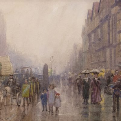 Frederic Marlett Bell-Smith | HOLBORN STAPLE INN, ON RIGHT (LONDON); 1920 | Hammer Price - $ 4,500