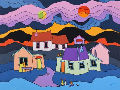 Ted Harrison  -  36 x 48 in.