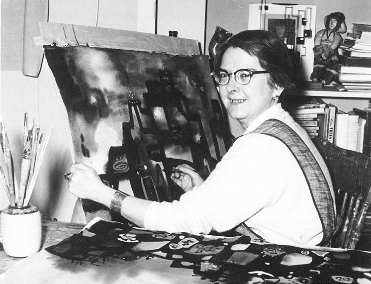 portrait of the Canadian artist Janet Mitchell